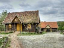 La casa de madera vieja Imagen de archivo libre de regalías