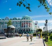 La casa de Sevastyanov - edificio histórico en estilo neogótico adentro Imagen de archivo