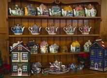 La casa de té en el parque de Pukekura, Taranaki, Nueva Zelanda imágenes de archivo libres de regalías