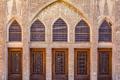 La casa de Tabatabayi es una casa histórica en Kashan, Irán La casa fue construida en 1857 por el arquitecto Ustad Ali Maryam, pa Fotos de archivo