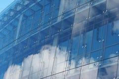 La casa de un vidrio y de un acero Fotografía de archivo