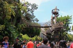 La casa del árbol de Tarzan en Disneyland Fotos de archivo libres de regalías