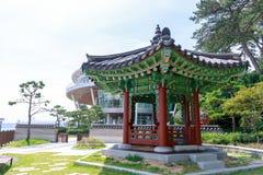 La casa del APEC de Nurimaru localiza en la isla de Haeundae Dongbaekseom en Busán, Corea del Sur imagenes de archivo