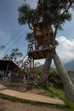 La casa del Arbol in Banos, Ecuador Royalty Free Stock Photos