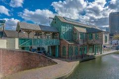 La casa del canal en Birmingham imagen de archivo libre de regalías