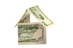La casa del dollaro Fotografie Stock Libere da Diritti