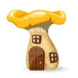 La casa del fungo con la porta e le finestre vector l'illustrazione Fotografie Stock