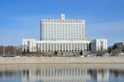 La casa del gobierno de la Federación Rusa (la Casa Blanca) Foto de archivo