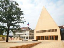 La casa del parlamento en Vaduz Imágenes de archivo libres de regalías