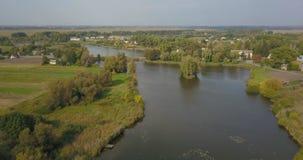 La casa del pescador en Ucrania almacen de video