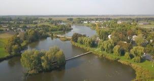 La casa del pescatore in Ucraina video d archivio
