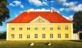 La casa del ` s del comandante en Kastellet, Copenhague Fotografía de archivo