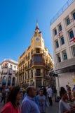 La casa del ` s dell'orologio in Sitges, Barcellona, Spagna Immagine Stock