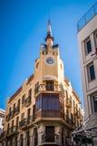 La casa del ` s dell'orologio in Sitges, Barcellona, Spagna Fotografie Stock
