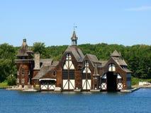 La casa del yate del castillo de Boldt en la isla de Wellesley Foto de archivo libre de regalías
