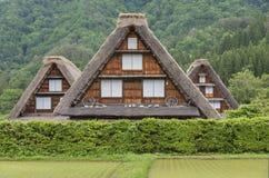 La casa dell'azienda agricola in villaggio storico di Shirakawa-va Shirakawa-va la i Fotografia Stock Libera da Diritti
