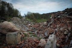 La casa demolita Fotografie Stock