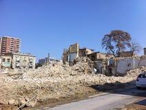 La casa destruida, ruinas Imagenes de archivo