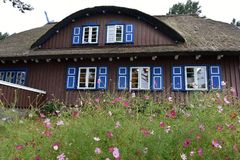 La casa di estate di Thomas Mann in Nida fotografia stock libera da diritti