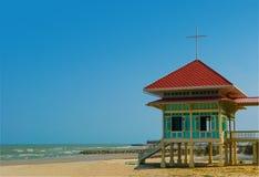 La casa di fine settimana sulla spiaggia Cha-sono, la Tailandia Fotografia Stock