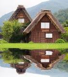 La casa di Gassho-zukuri, villaggio storico di Shirakawa-va di estate fotografia stock libera da diritti