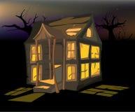 La casa di Halloween Immagini Stock