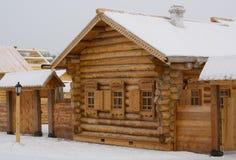 La casa di legno Fotografie Stock Libere da Diritti