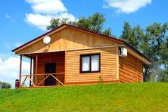 La casa di legno immagini stock