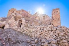 La casa di pietra della città antica rimane Fotografia Stock Libera da Diritti