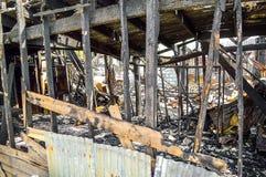 La casa dopo un fuoco Fotografia Stock Libera da Diritti