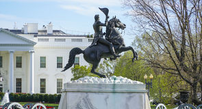 La casa e l'ufficio di casa bianchi del presidente degli Stati Uniti - WASHINGTON DC - COLOMBIA - 7 aprile 2017 Fotografia Stock Libera da Diritti