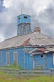 La casa ed il posto di guardia distrutti Isole di Solovki, Russia Immagini Stock Libere da Diritti