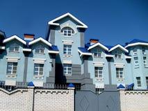 La casa en colores azules Imagen de archivo