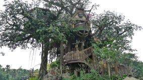 La casa en el árbol Imagen de archivo