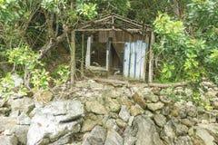 La casa en las rocas Fotografía de archivo