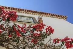 La casa en Obidos, el pueblo portugués Foto de archivo libre de regalías