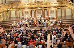 La casa famosa del concierto de Viena Foto de archivo libre de regalías