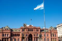 La casa famosa Rosada Imagenes de archivo