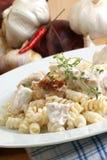 la casa fresca ha prodotto l'insalata organica della tagliatella Fotografie Stock Libere da Diritti