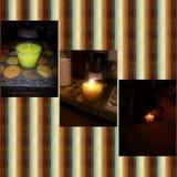 La casa ha fatto la candela profumata immagine stock