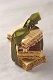 La casa ha prodotto i biscotti del wafer Fotografie Stock Libere da Diritti