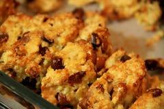 La casa ha prodotto i biscotti macro immagini stock libere da diritti