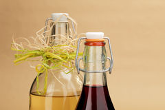 La casa ha prodotto i vini rossi e bianchi in bottiglie classiche Immagini Stock Libere da Diritti