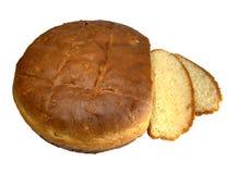 La casa ha prodotto il pane isolato Fotografia Stock
