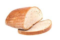 La casa ha prodotto il pane isolato Fotografia Stock Libera da Diritti