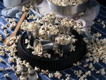 La casa ha prodotto il popcorn Immagine Stock