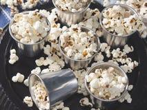 La casa ha prodotto il popcorn per un partito Fotografia Stock Libera da Diritti