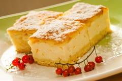 La casa ha prodotto la torta di formaggio immagine stock