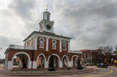 La casa histórica del mercado en Fayetteville foto de archivo libre de regalías