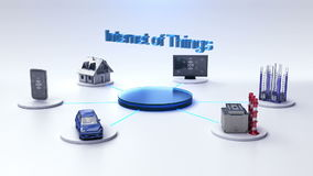 La casa intelligente, fabbrica, costruzione, automobile, cellulare, sensore di Internet collega Internet del ` della tecnologia d